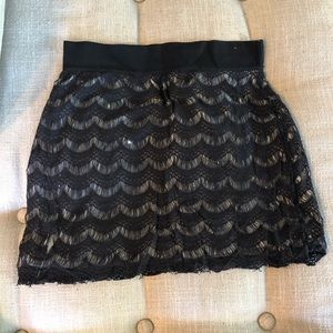 Freepeople Scalloped Mini Skirt